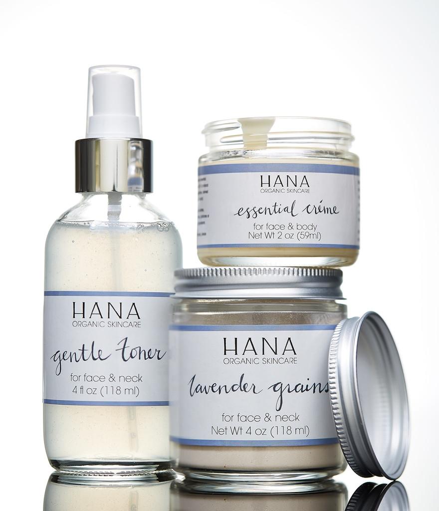 Hana Organic Skincare label design
