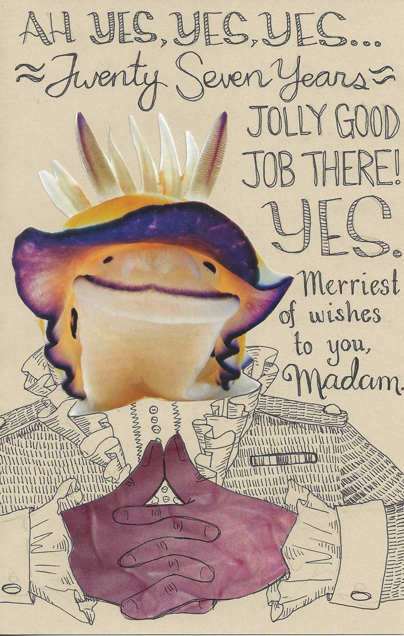 Nudibranch birthday card by Mari Collins