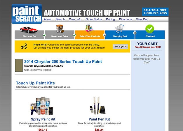 Paintscratch website after redesign
